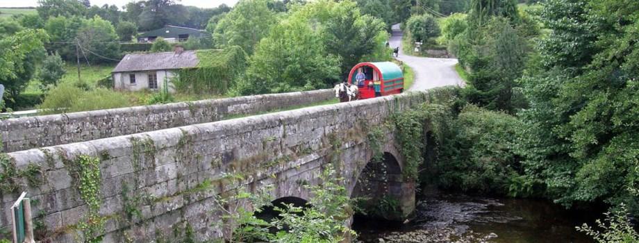Kinder Urlaub Irland Planwagen Zigeuerwagen